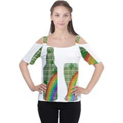 St. Patrick s day Women s Cutout Shoulder Tee