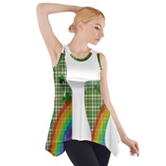 St. Patrick s day Side Drop Tank Tunic