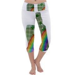 St. Patrick s day Capri Yoga Leggings