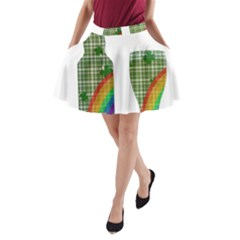 St. Patrick s day A-Line Pocket Skirt