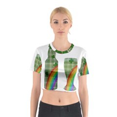 St. Patrick s day Cotton Crop Top
