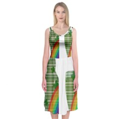 St. Patrick s day Midi Sleeveless Dress