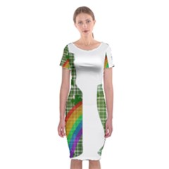 St. Patrick s day Classic Short Sleeve Midi Dress