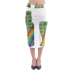 St. Patrick s day Midi Pencil Skirt