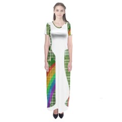 St. Patrick s day Short Sleeve Maxi Dress