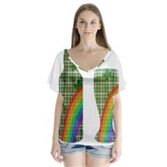 St. Patrick s day Flutter Sleeve Top