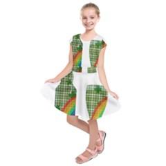 St. Patrick s day Kids  Short Sleeve Dress