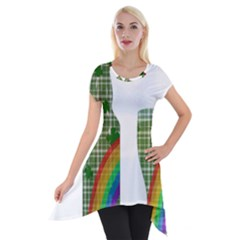 St. Patrick s day Short Sleeve Side Drop Tunic