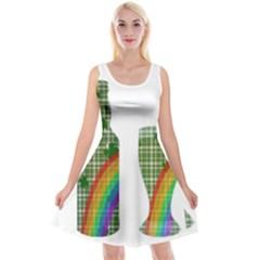 St. Patrick s day Reversible Velvet Sleeveless Dress