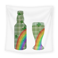 St. Patrick s day Square Tapestry (Large)