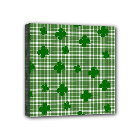 St. Patrick s day pattern Mini Canvas 4  x 4