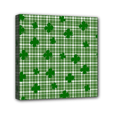St. Patrick s day pattern Mini Canvas 6  x 6