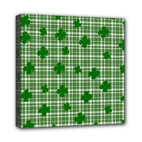 St. Patrick s day pattern Mini Canvas 8  x 8