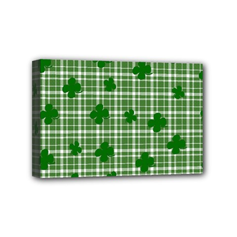 St. Patrick s day pattern Mini Canvas 6  x 4