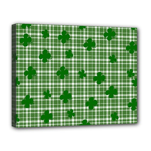 St. Patrick s day pattern Canvas 14  x 11