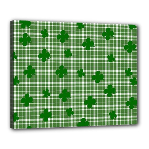 St. Patrick s day pattern Canvas 20  x 16