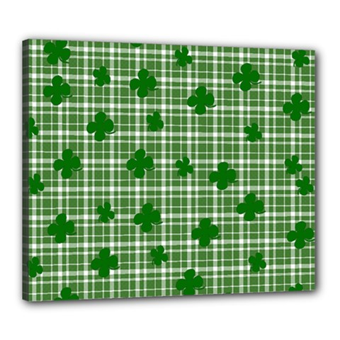 St. Patrick s day pattern Canvas 24  x 20