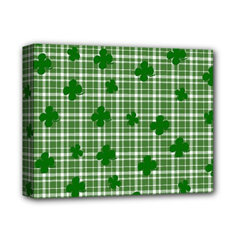 St. Patrick s day pattern Deluxe Canvas 14  x 11