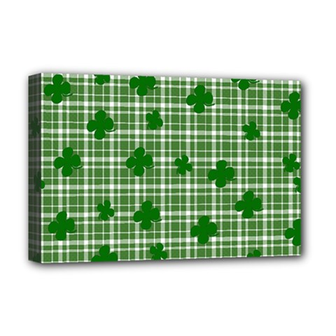 St. Patrick s day pattern Deluxe Canvas 18  x 12
