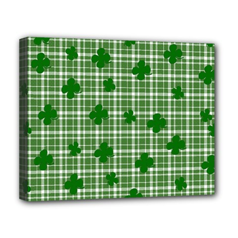 St. Patrick s day pattern Deluxe Canvas 20  x 16