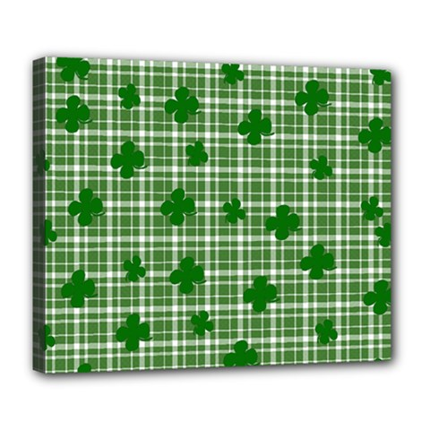 St. Patrick s day pattern Deluxe Canvas 24  x 20