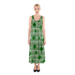 St. Patrick s day pattern Sleeveless Maxi Dress