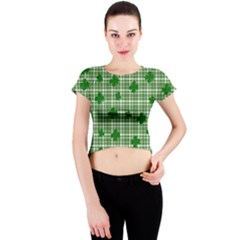 St. Patrick s day pattern Crew Neck Crop Top