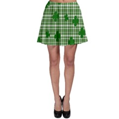 St. Patrick s day pattern Skater Skirt