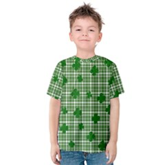 St. Patrick s day pattern Kids  Cotton Tee