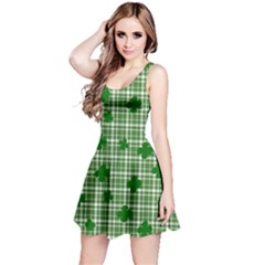 St. Patrick s day pattern Reversible Sleeveless Dress