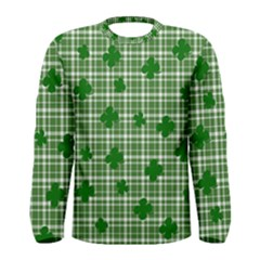 St. Patrick s day pattern Men s Long Sleeve Tee
