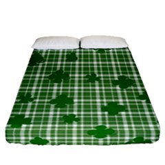 St. Patrick s day pattern Fitted Sheet (Queen Size)