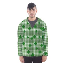 St. Patrick s day pattern Hooded Wind Breaker (Men)