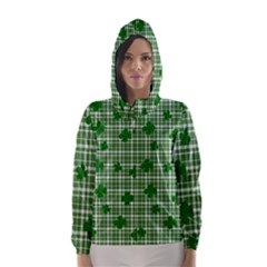 St. Patrick s day pattern Hooded Wind Breaker (Women)
