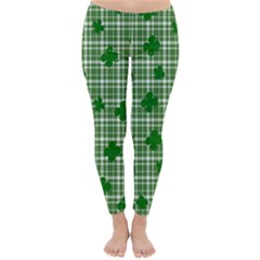 St. Patrick s day pattern Classic Winter Leggings