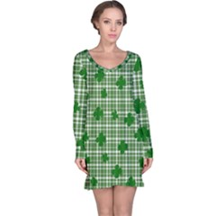 St. Patrick s day pattern Long Sleeve Nightdress