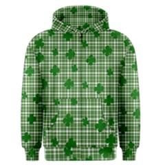 St. Patrick s day pattern Men s Zipper Hoodie