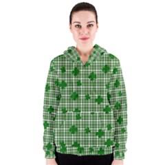St. Patrick s day pattern Women s Zipper Hoodie
