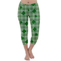 St. Patrick s day pattern Capri Winter Leggings