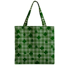 St. Patrick s day pattern Zipper Grocery Tote Bag