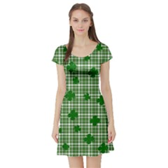 St. Patrick s day pattern Short Sleeve Skater Dress