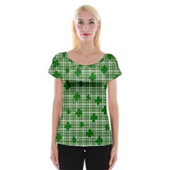 St. Patrick s day pattern Women s Cap Sleeve Top