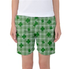 St. Patrick s day pattern Women s Basketball Shorts