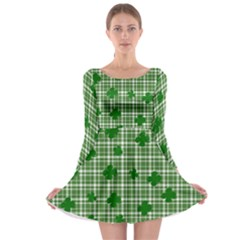 St. Patrick s day pattern Long Sleeve Skater Dress