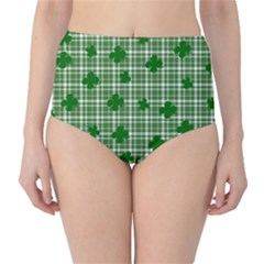 St. Patrick s day pattern High-Waist Bikini Bottoms