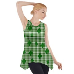 St. Patrick s day pattern Side Drop Tank Tunic