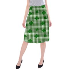 St. Patrick s day pattern Midi Beach Skirt