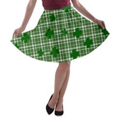 St. Patrick s day pattern A-line Skater Skirt