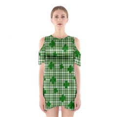 St. Patrick s day pattern Shoulder Cutout One Piece