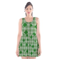 St. Patrick s day pattern Scoop Neck Skater Dress